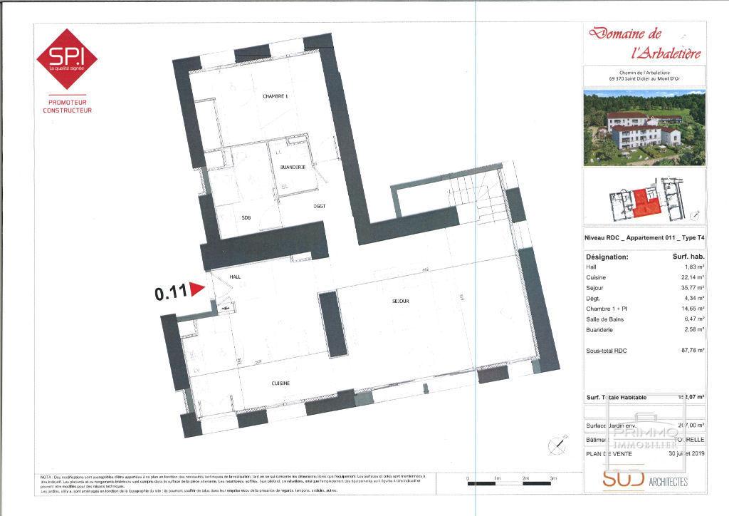 Vente neuf appartement Saint didier au mont d or  - Photo 3