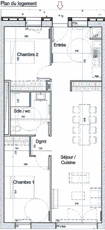 Location appartement Perigny 830€ CC - Photo 5
