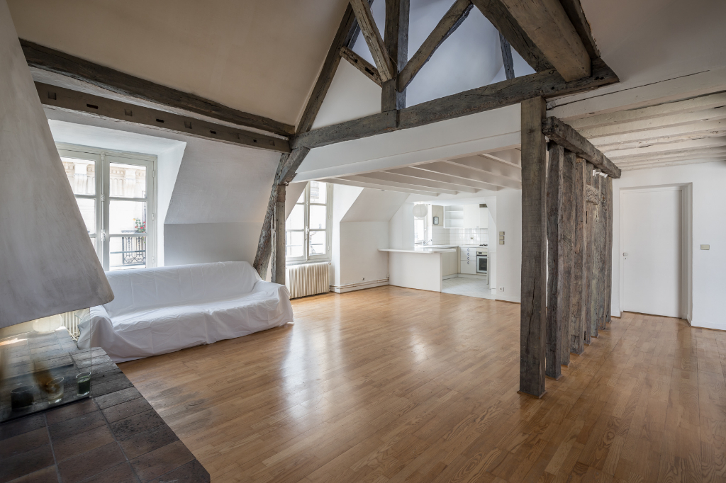 Duplex sous les toits d 39 un h tel particulier paris 75000 for Surfaces atypiques paris