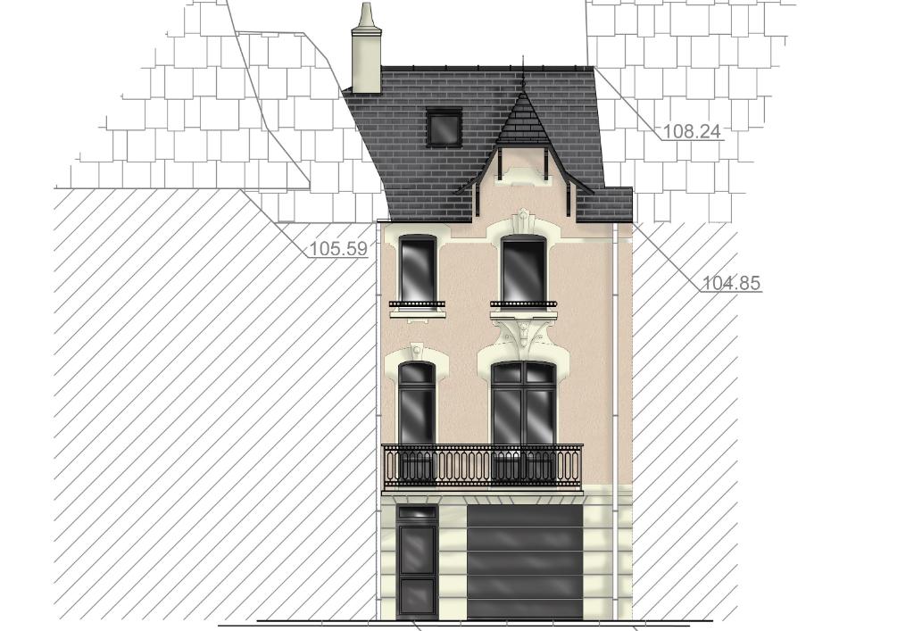 À vendre maison de ville Face port, à 100m du centre ville du Pouliguen