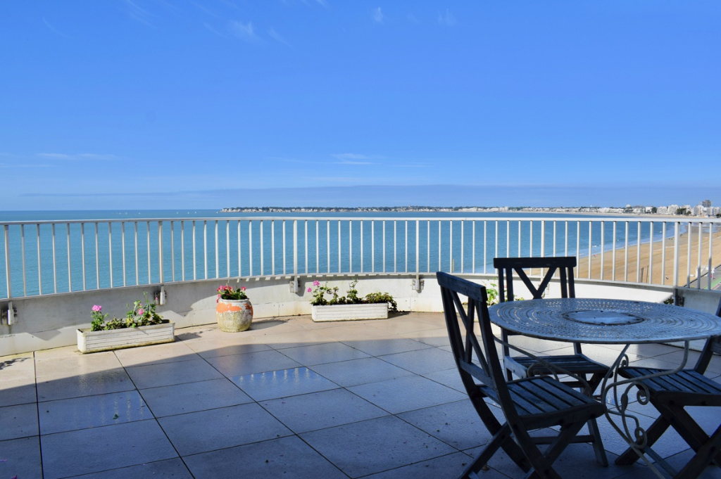 À vendre appartement face mer à La Baule, proche quartier piscine Aquabaule