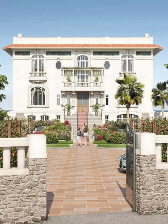 À vendre à Pornichet appartement dans une villa face mer classée à l'architecture exceptionnelle