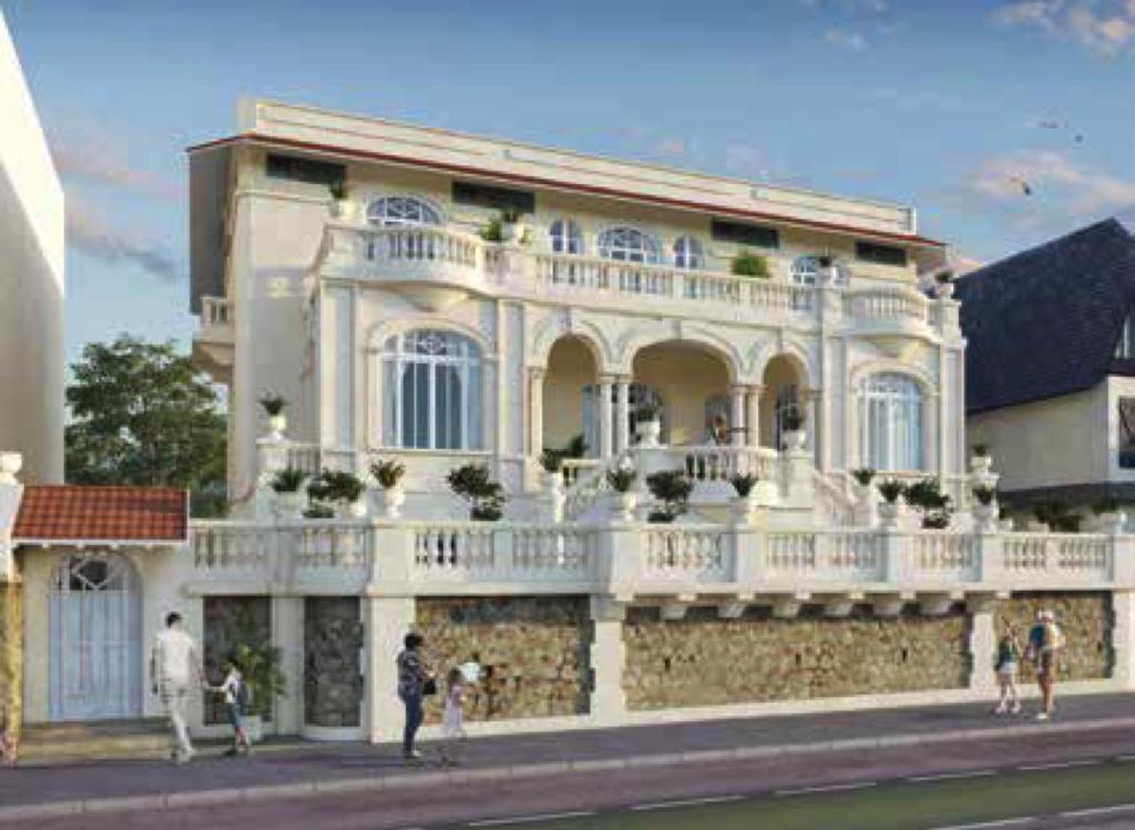 À vendre à Pornichet appartement face mer dans une villa face mer classée à l'architecture exceptionnelle