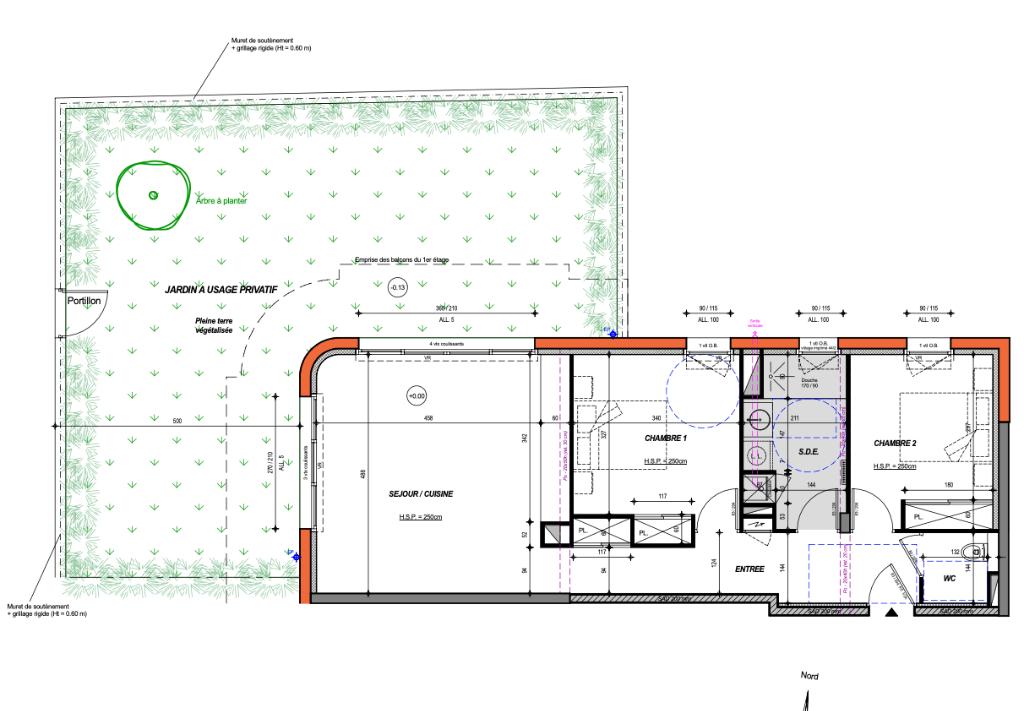 À vendre appartement T3 de 65,57 m2 proche du centre ville de Pornichet