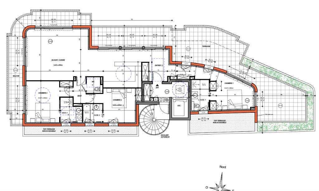 À vendre appartement T4 de 117,78 m2 proche du centre ville de Pornichet