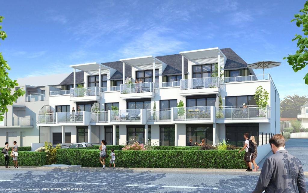 Programme NEUF à Pornichet - Appartement T2bis  en rez de jardin de 53,34 m2