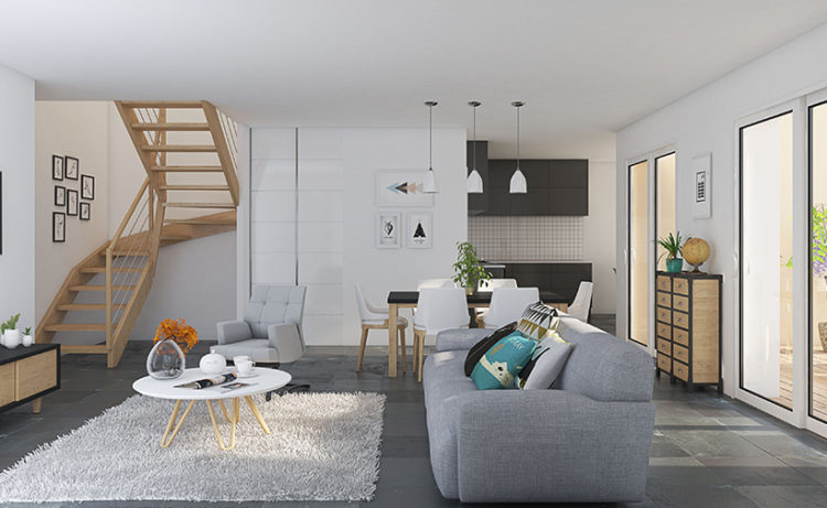 A vendre Maison T6 Duplex  de 126,40 m2 - Programme Neuf  - sur parcelle de 551 m2