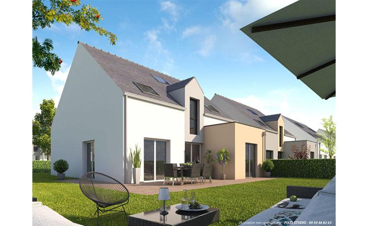 A vendre Maison T4 Duplex  de 95,20 m2 - Programme Neuf  - sur parcelle de 450 m2