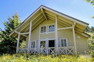 Chalet Norvégien individuel de 65 m²  avec terrasse Sud Ouest et jardin