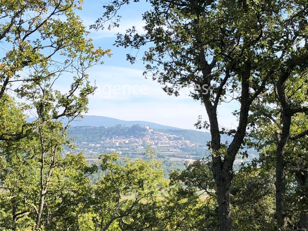 Cabanon renové commune de Lacoste - terrain 4770m² planté de chênes