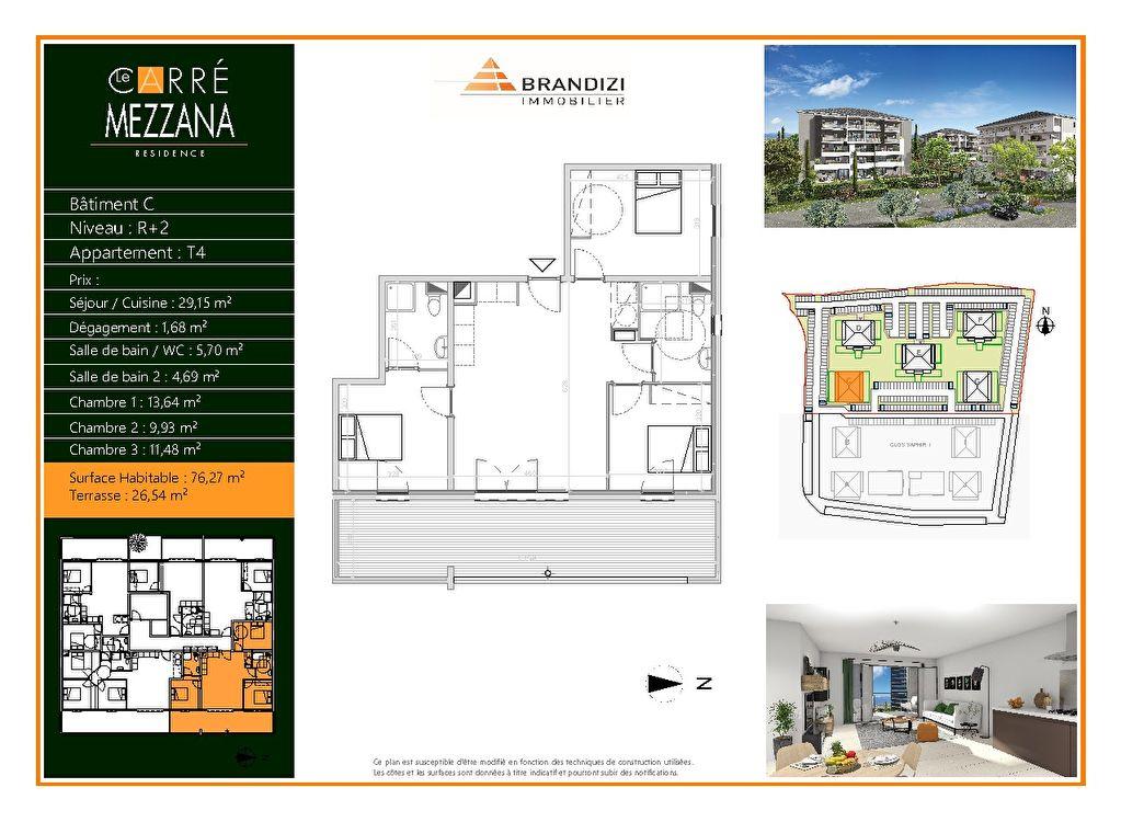Vente Appartement de 4 pièces 76 m² - LUCCIANA 20290 | GOUR IMMOBILIER CONSEIL - AR photo1