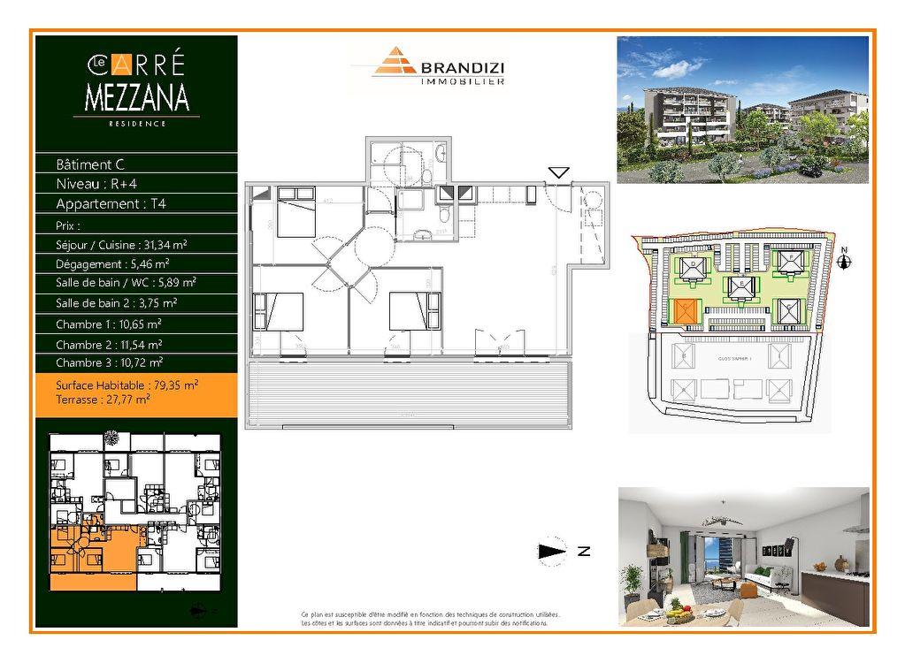 Vente Appartement de 4 pièces 79 m² - LUCCIANA 20290 | GOUR IMMOBILIER CONSEIL - AR photo1