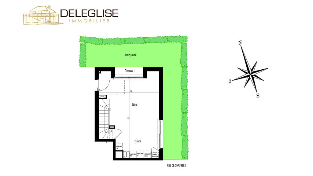 MAISON DE VILLE T4 - 76m² - VUE BASSIN
