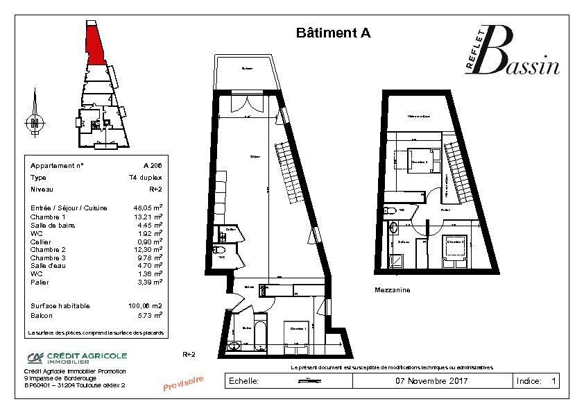 T4 Duplex 100m² - Gujan Centre Ville