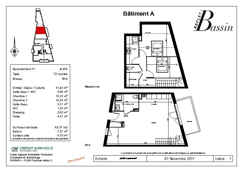 T3 Duplex 82m² - Gujan Centre Ville