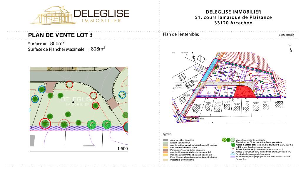 Terrain Abatilles 800 m² - Lot 3