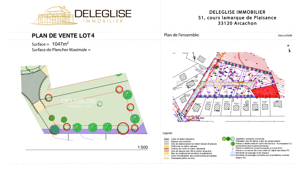 Terrain Abatilles 800 m² - Lot 4