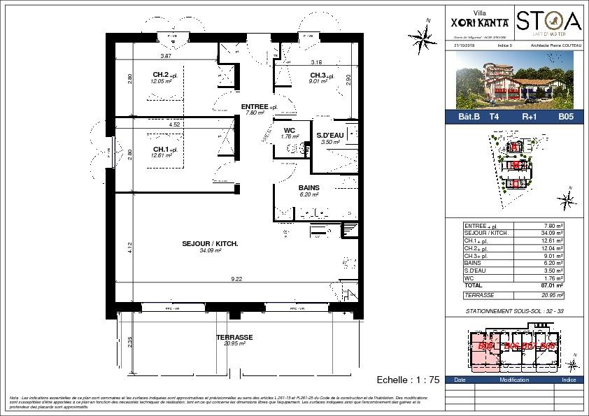 vente appartement à URRUGNE - 430 000