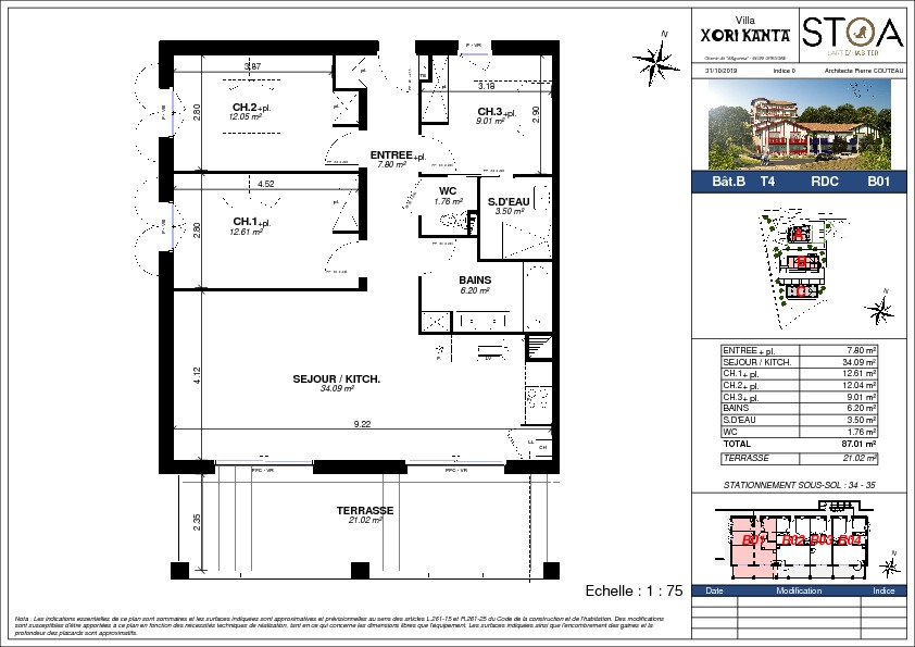 vente appartement à URRUGNE - 450 000