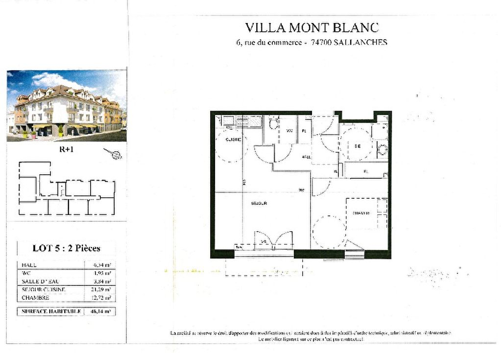 Sale apartment Sallanches 166000€ - Picture 4
