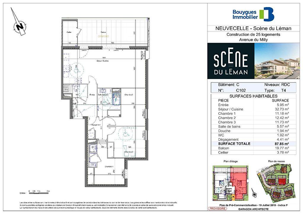 Vente Appartement de 4 pièces 88 m² - NEUVECELLE 74500 | IMOGROUP EVIAN - IMOGROUP photo1