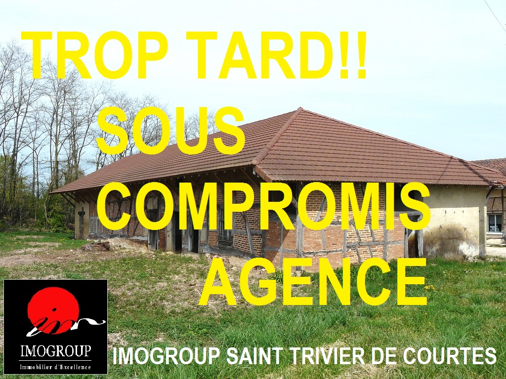 Vente Maison de 1 pièces 330 m² - SAINT TRIVIER DE COURTES 01560 | IMOGROUP SAINT TRIVIER DE COURTES - IMOGROUP photo1