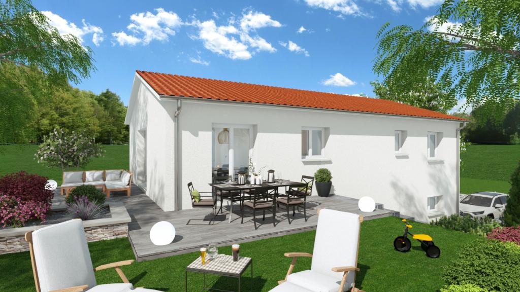 Unieux : terrain + maison sur une parcelle de 597 m²