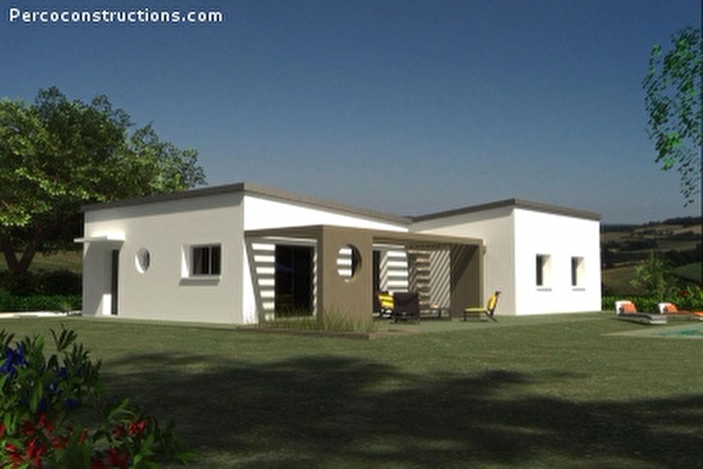 Maison st sauveur plain pied contemporaine 4 chambres for Prix maison 4 chambres