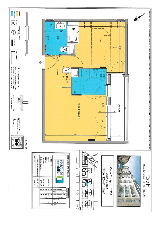 Appartement - T2 - 76100