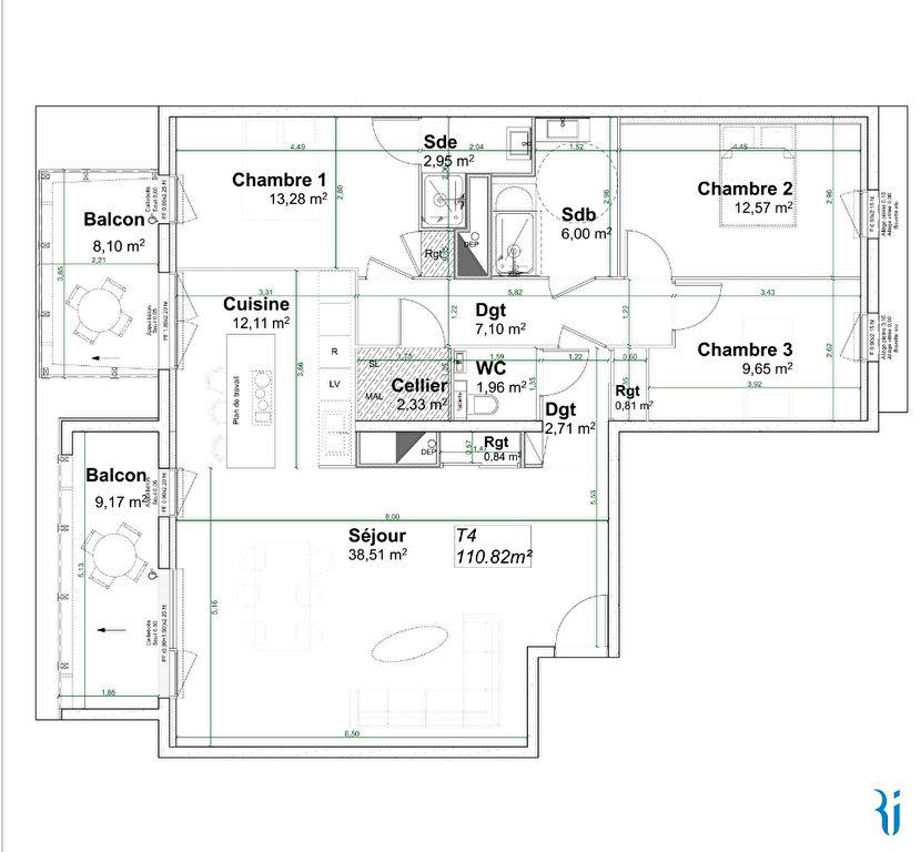 Sale apartment Rouen 399000€ - Picture 3