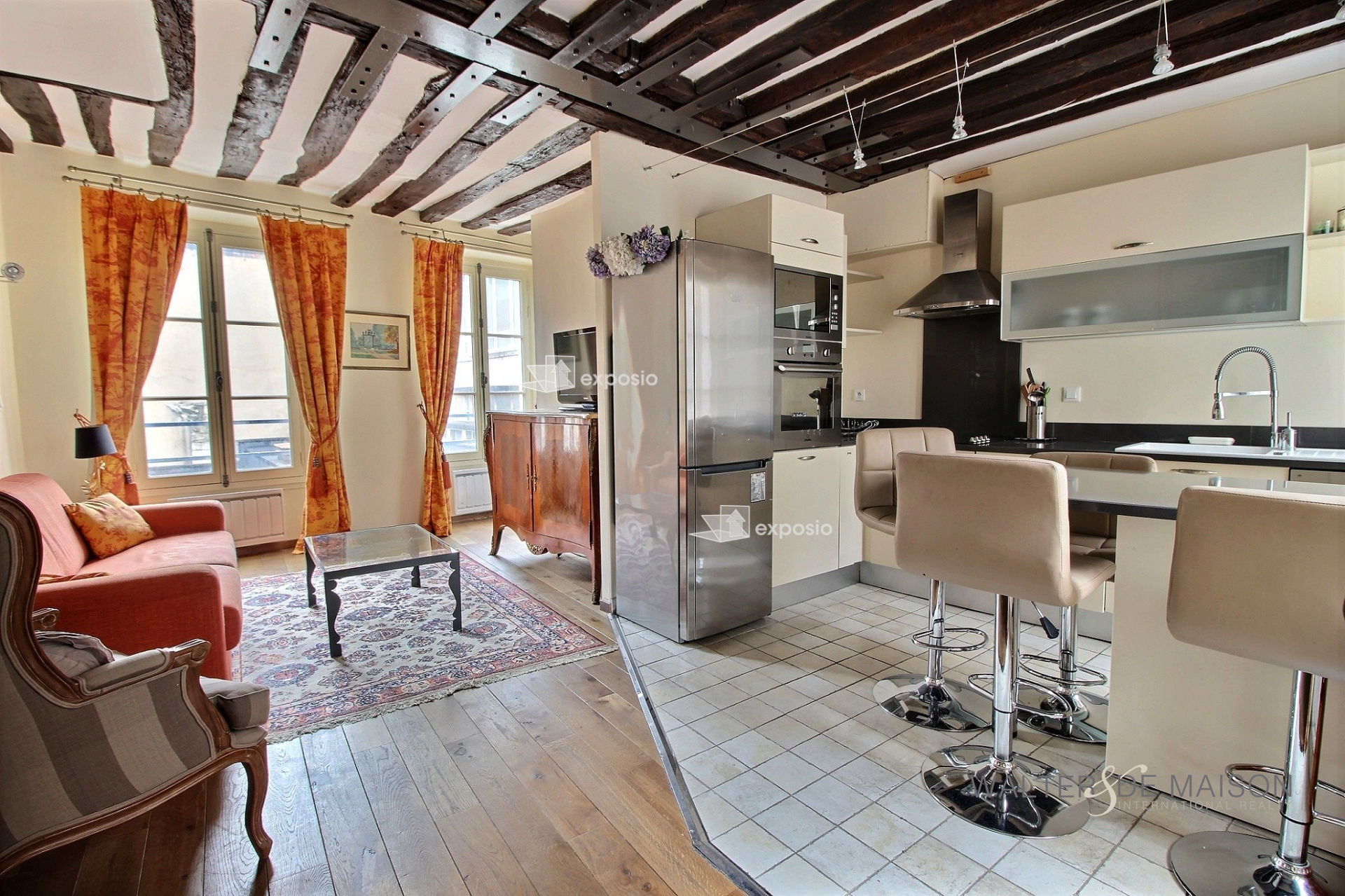 Appartement 2 pièce(s) 45 m²                         75003 PARIS