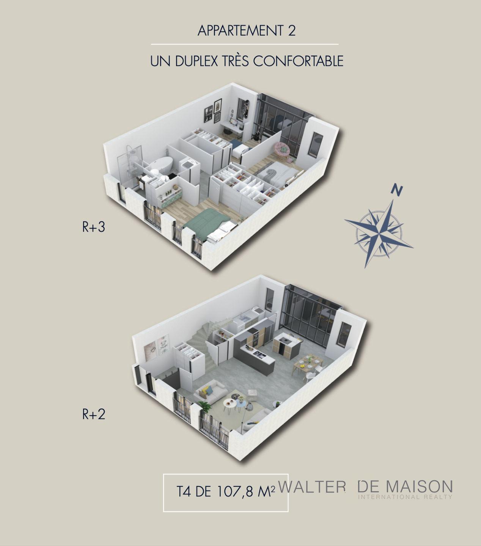 Appartement 4 pièce(s) 107.8 m²                         75014 PARIS